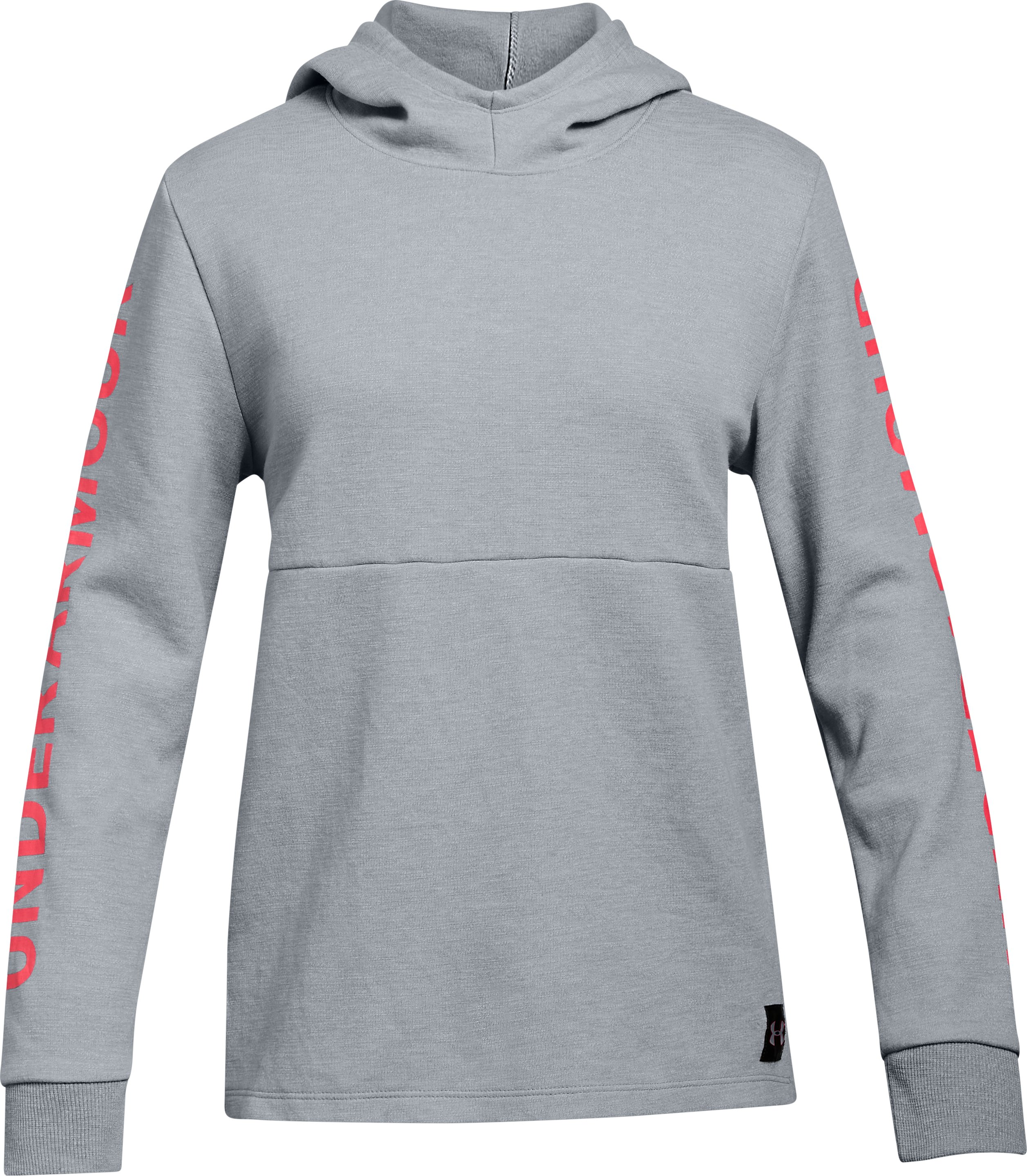 Girls' UA Double Knit Hoodie, STEEL LIGHT HEATHER