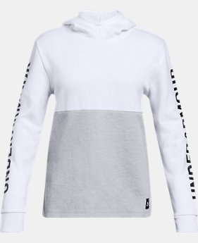 Girls' UA Double Knit Hoodie  1  Color Available $45