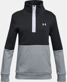 Girls' UA Double Knit ½ Zip  3  Colors Available $50
