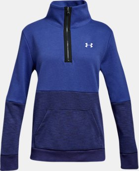 Girls' UA Unstoppable Double Knit ½ Zip  1  Color Available $50