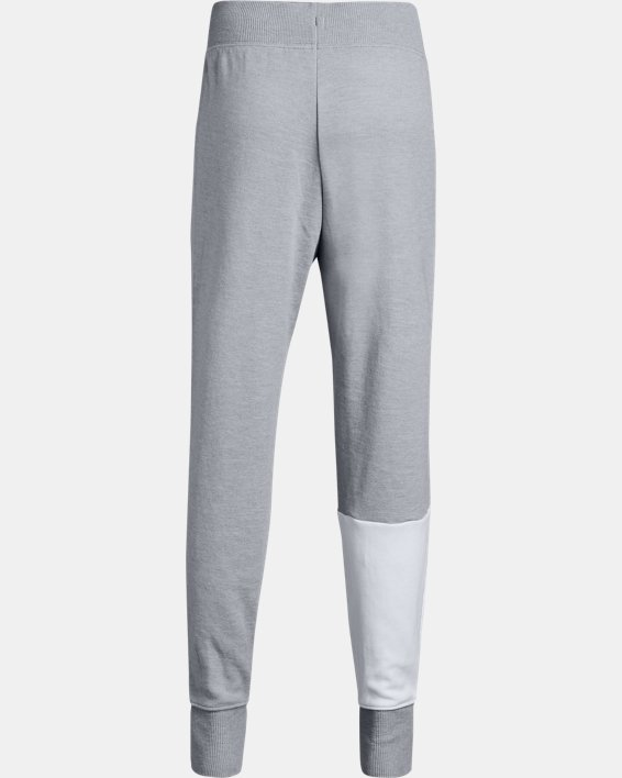 Girls' UA Double Knit Joggers, Gray, pdpMainDesktop image number 1