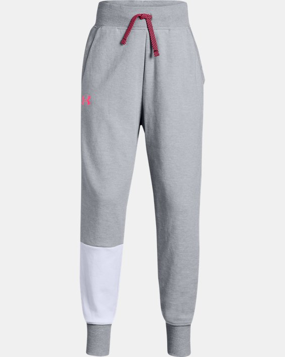 Girls' UA Double Knit Joggers, Gray, pdpMainDesktop image number 0