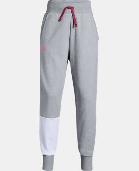 New Arrival  Girls' UA Double Knit Joggers   $55