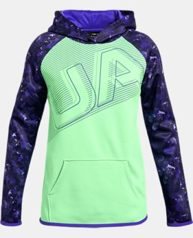 New Arrival  Girls' Armour Fleece® Big Logo Hoodie  2  Colors Available $55