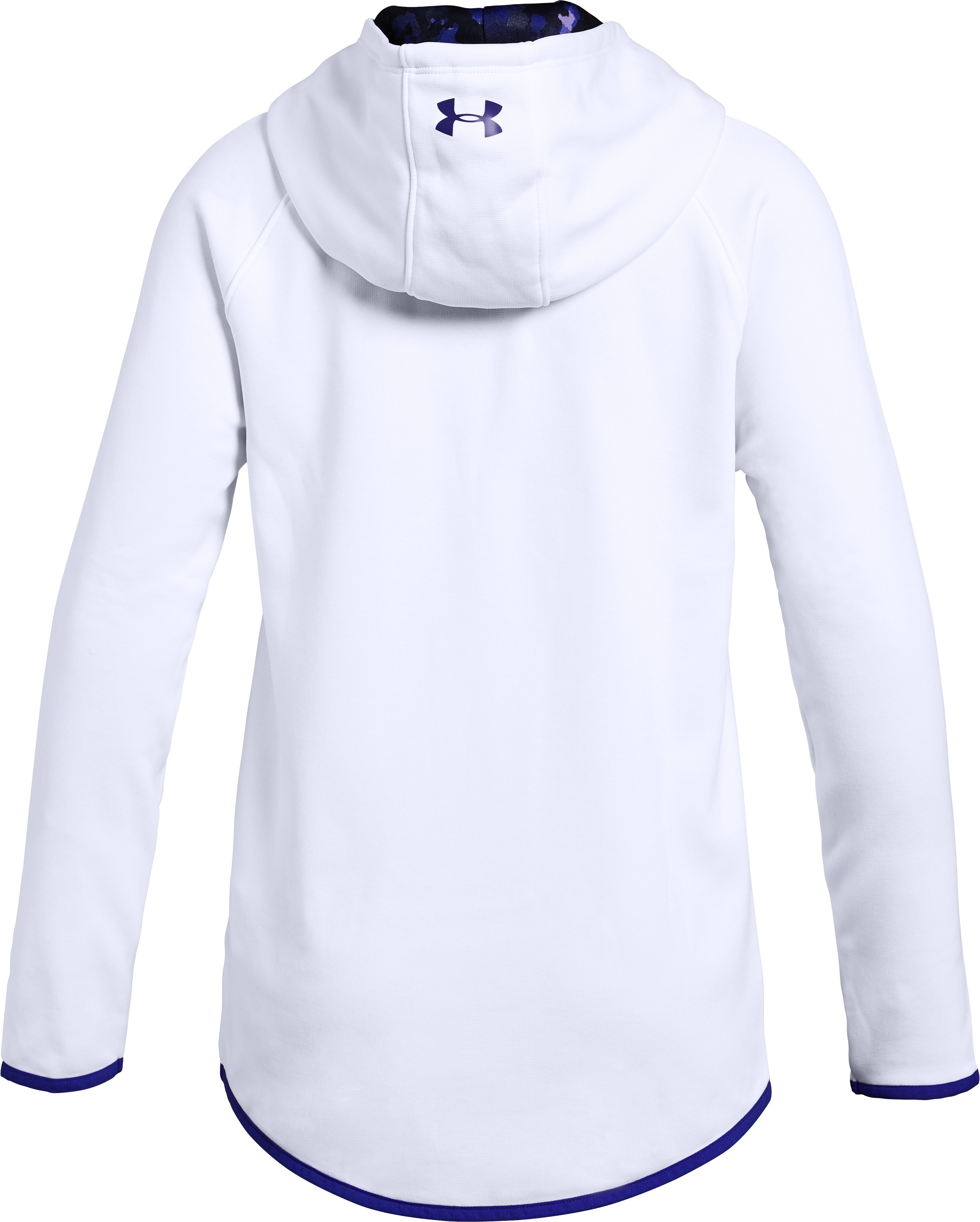 Girls' Armour Fleece® Dual Logo Hoodie, White,