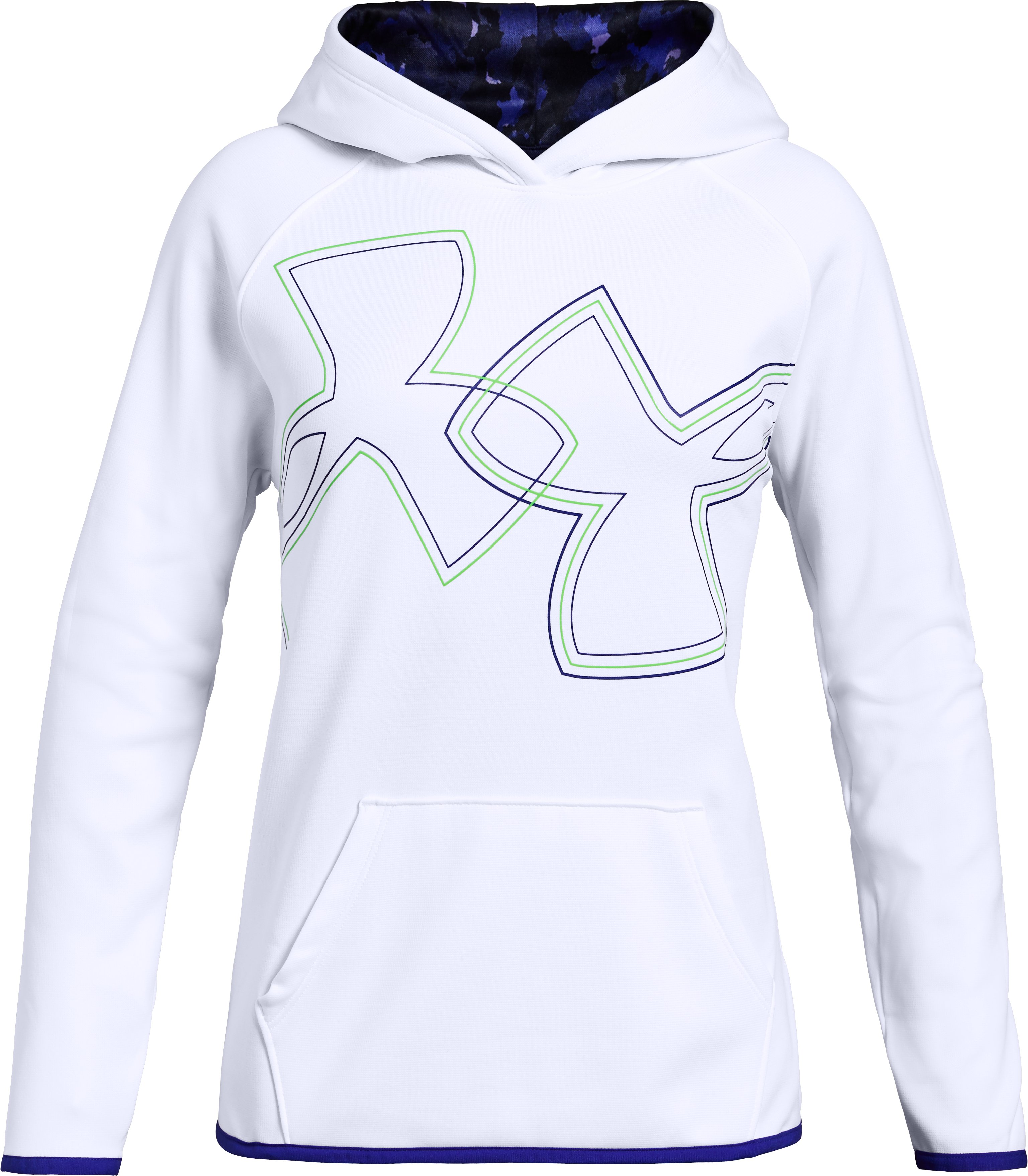 Girls' Armour Fleece® Dual Logo Hoodie, White