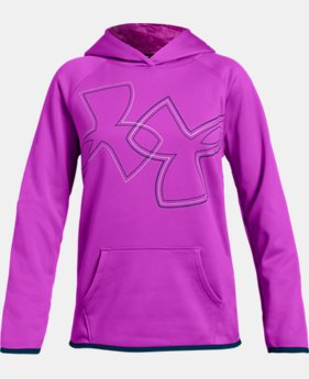 New Arrival  Girls' Armour Fleece® Dual Logo Hoodie  2  Colors Available $50