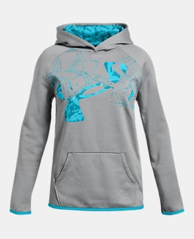 325233b52 New to Outlet Girls' Armour Fleece® Print Logo Hoodie 4 Colors Available  $29.99 to