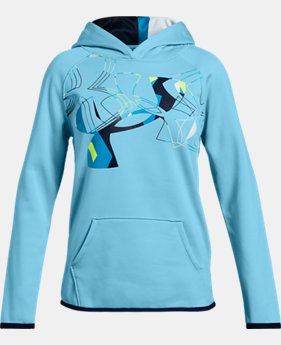 New Arrival Girls' Armour Fleece® Print Logo Hoodie   $40