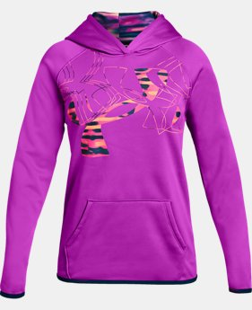 New Arrival  Girls' Armour Fleece® Print Logo Hoodie  1  Color Available $50