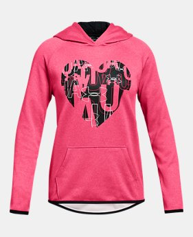 los angeles b8d63 bc372 New to Outlet Girls  Armour Fleece® Heart Hoodie 1 Color Available  26.99