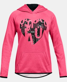 New Arrival Girls' Armour Fleece® Heart Hoodie  1  Color Available $40