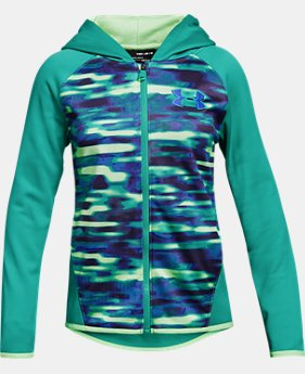Girls' Armour Fleece® Full Zip Hoodie - Printed  1  Color Available $50