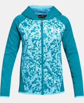 Girls' Armour Fleece® Full Zip Hoodie - Printed  3  Colors Available $50