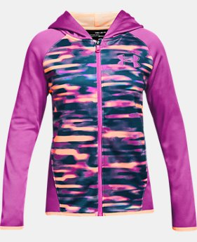 New Arrival Girls' Armour Fleece® Full Zip Hoodie - Printed FREE U.S. SHIPPING  $50