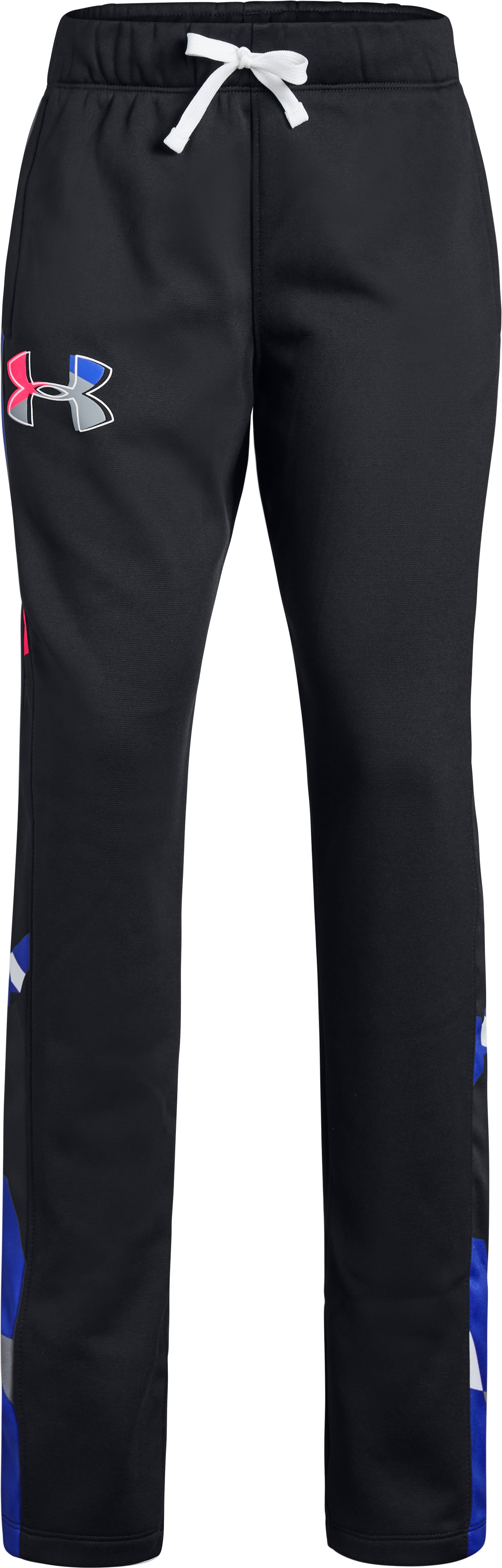 Girls' Armour Fleece® Pants, Black ,