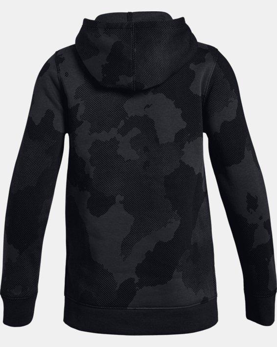 Girls' UA Rival Fleece Wordmark Hoodie, Black, pdpMainDesktop image number 1