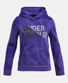 e840dd2fc Girls' UA Rival Fleece Wordmark Hoodie 4 Colors Available $33.75 to $33.99