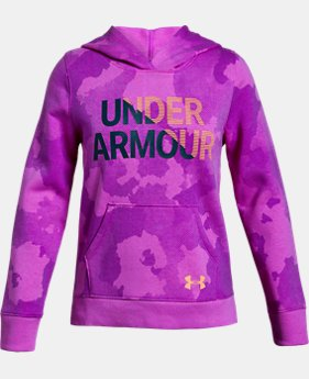 Girls' UA Rival Fleece Wordmark Hoodie  3  Colors Available $45