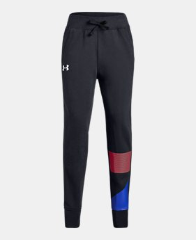 513b42b74b7539 New to Outlet Girls' UA Rival Fleece Joggers 2 Colors Available $26.99 to  $30.99