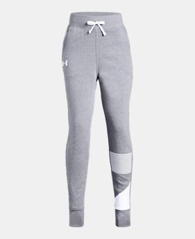 34699e2f9 New to Outlet Girls' UA Rival Fleece Joggers 2 Colors Available $30.99