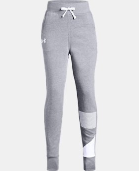 Girls' UA Rival Fleece Joggers LIMITED TIME ONLY 4  Colors Available $35