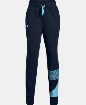 Girls' UA Rival Fleece Joggers  1  Color Available $34.99