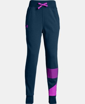 Girls' UA Rival Fleece Joggers  4  Colors Available $43.5 to $50