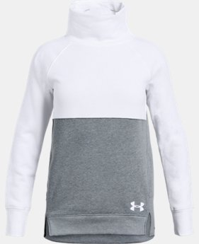 New Arrival Girls' UA Rival Fleece Slouchy Crew  2  Colors Available $45
