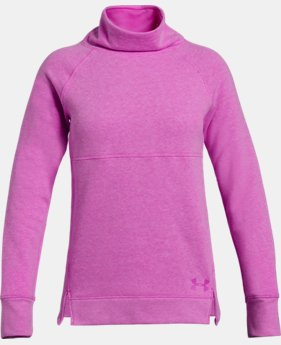 Girls' UA Rival Fleece Slouchy Crew  3  Colors Available $45