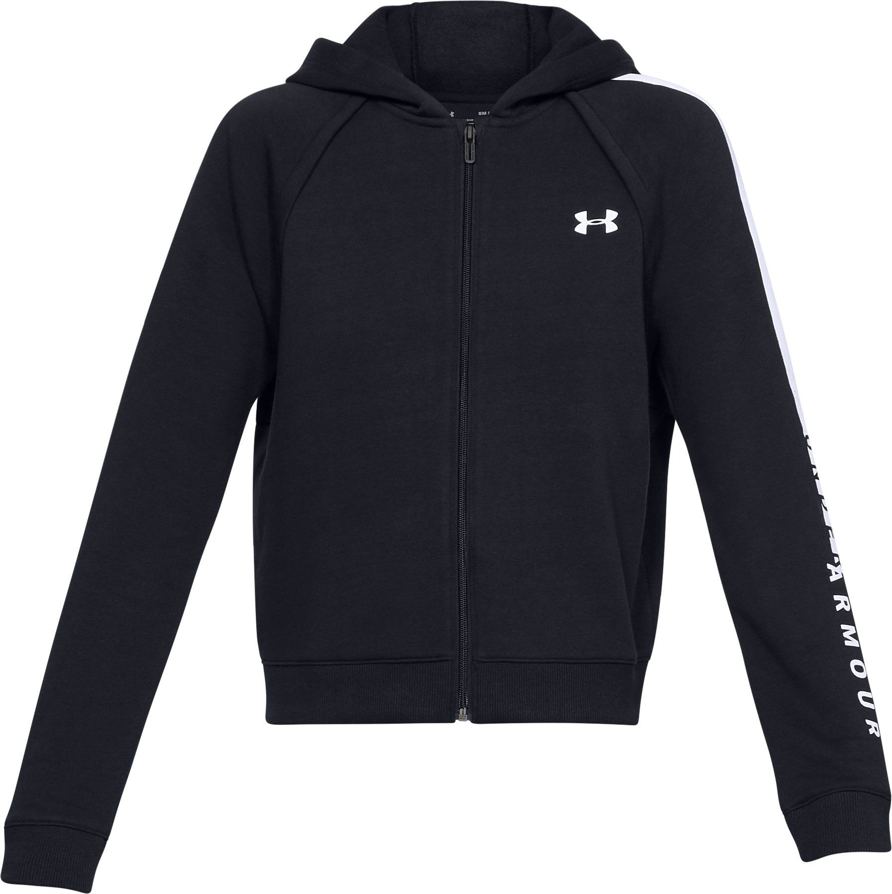 Women's UA Rival Fleece Full Zip Hoodie, Black ,