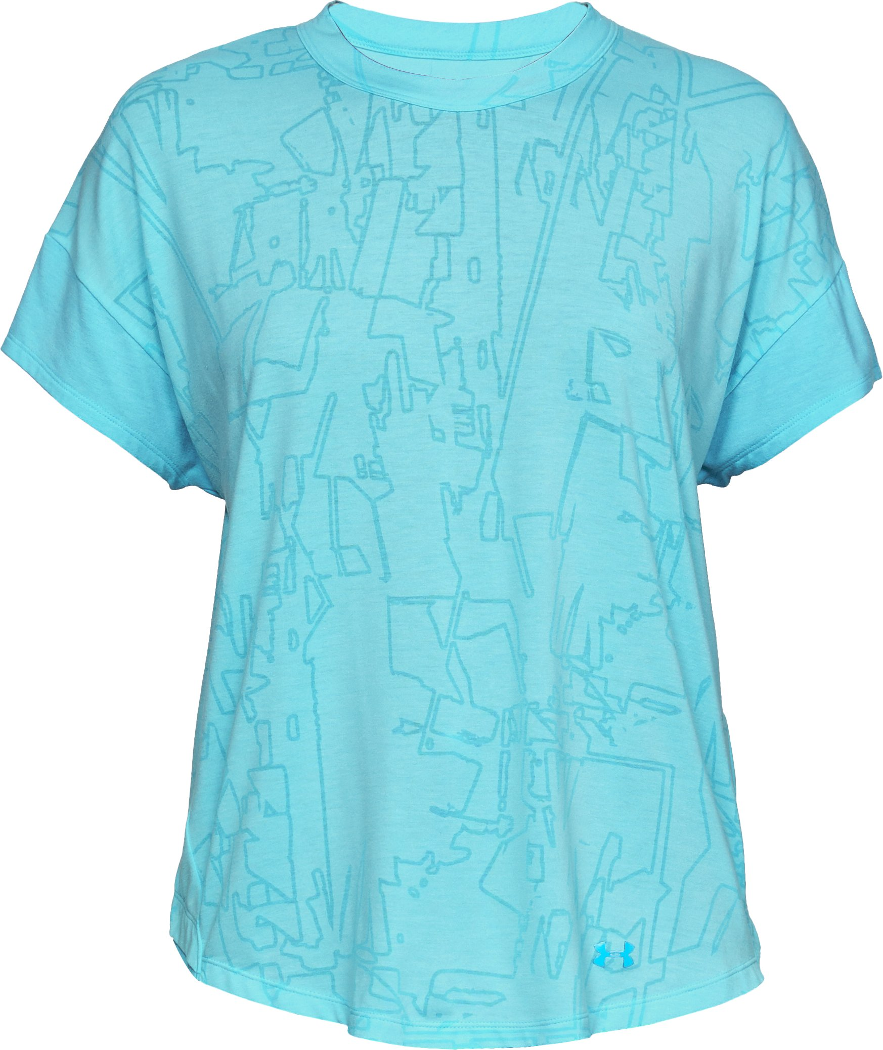 Women's UA Essentials Short Sleeve, Venetian Blue,