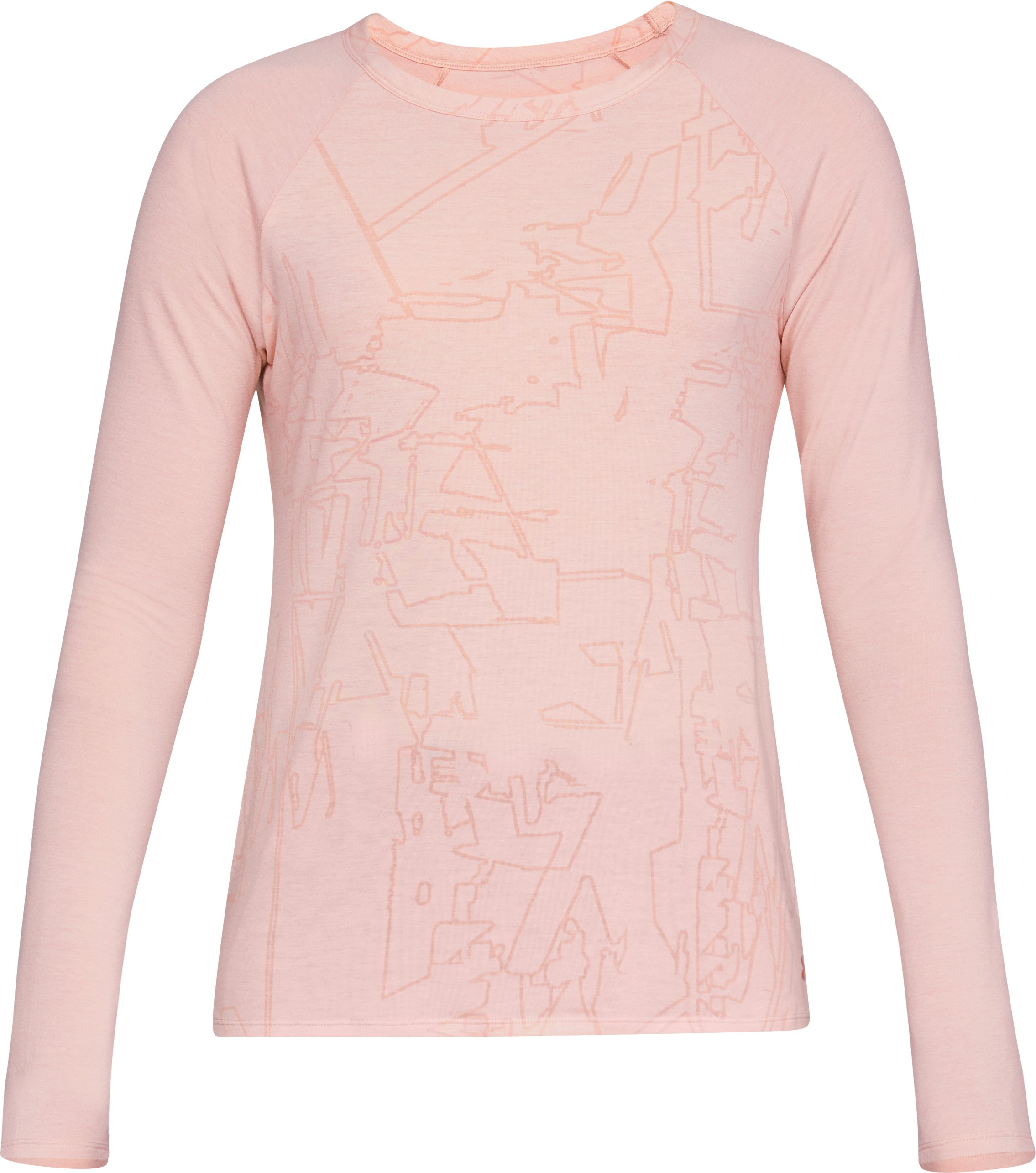 Women's UA Essentials Long Sleeve, Flushed Pink Medium Heather,