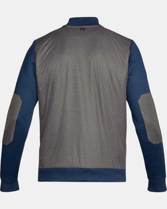 Men's UA Unstoppable GORE® WINDSTOPPER® ½ Zip, Blue, pdpMainDesktop image number 4