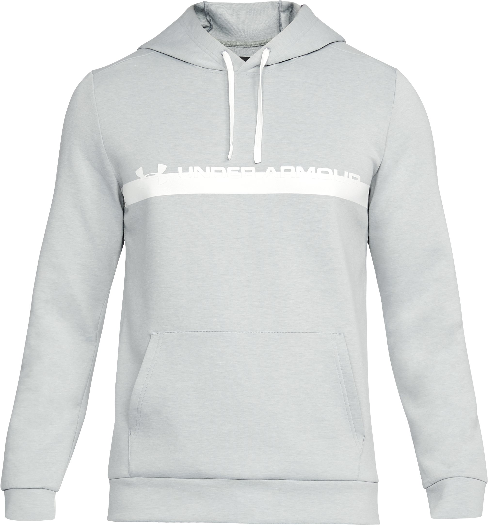 Men's UA Unstoppable Knit Hoodie, True Gray Heather, undefined