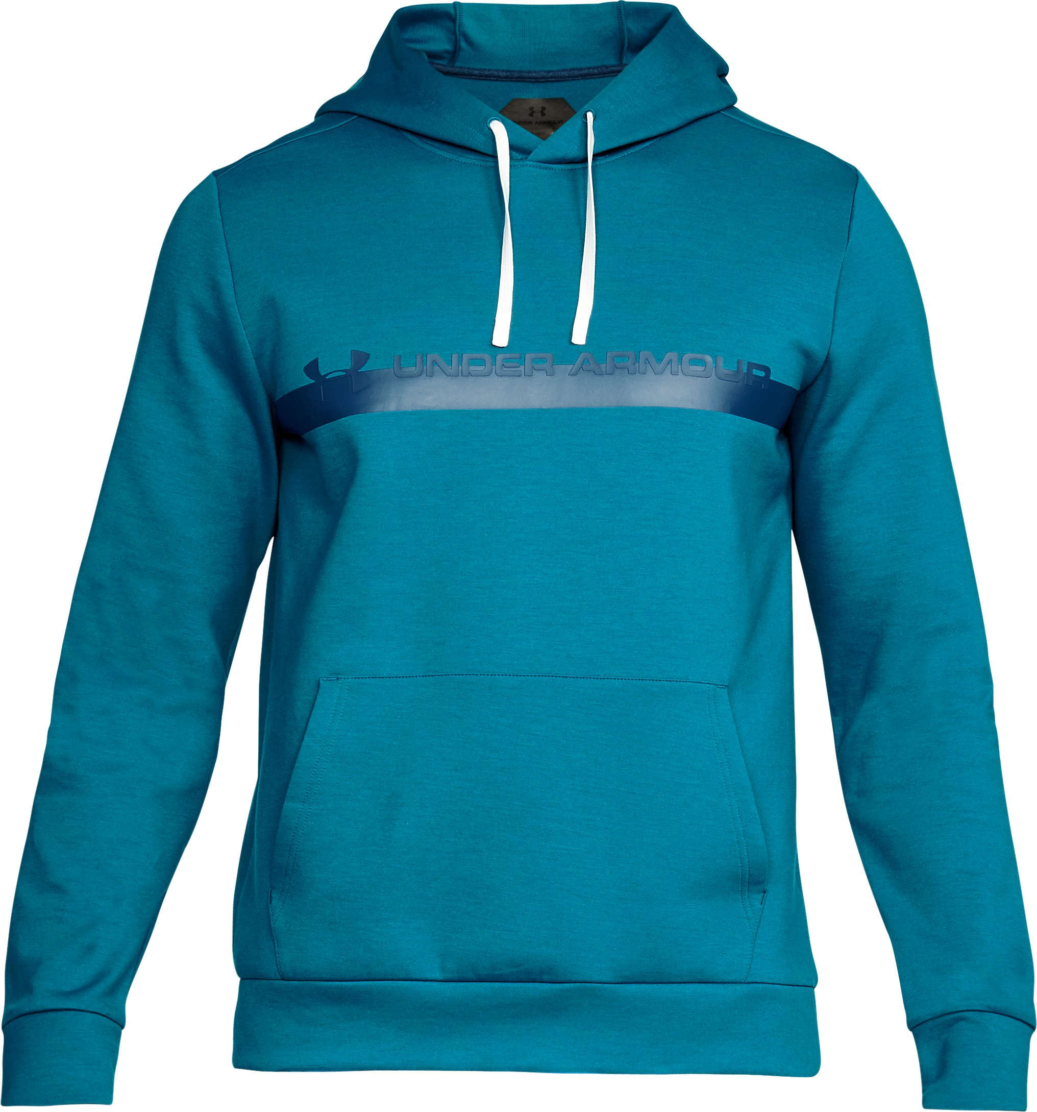 Men's UA Unstoppable Knit Hoodie, OCEAN BLUE, undefined