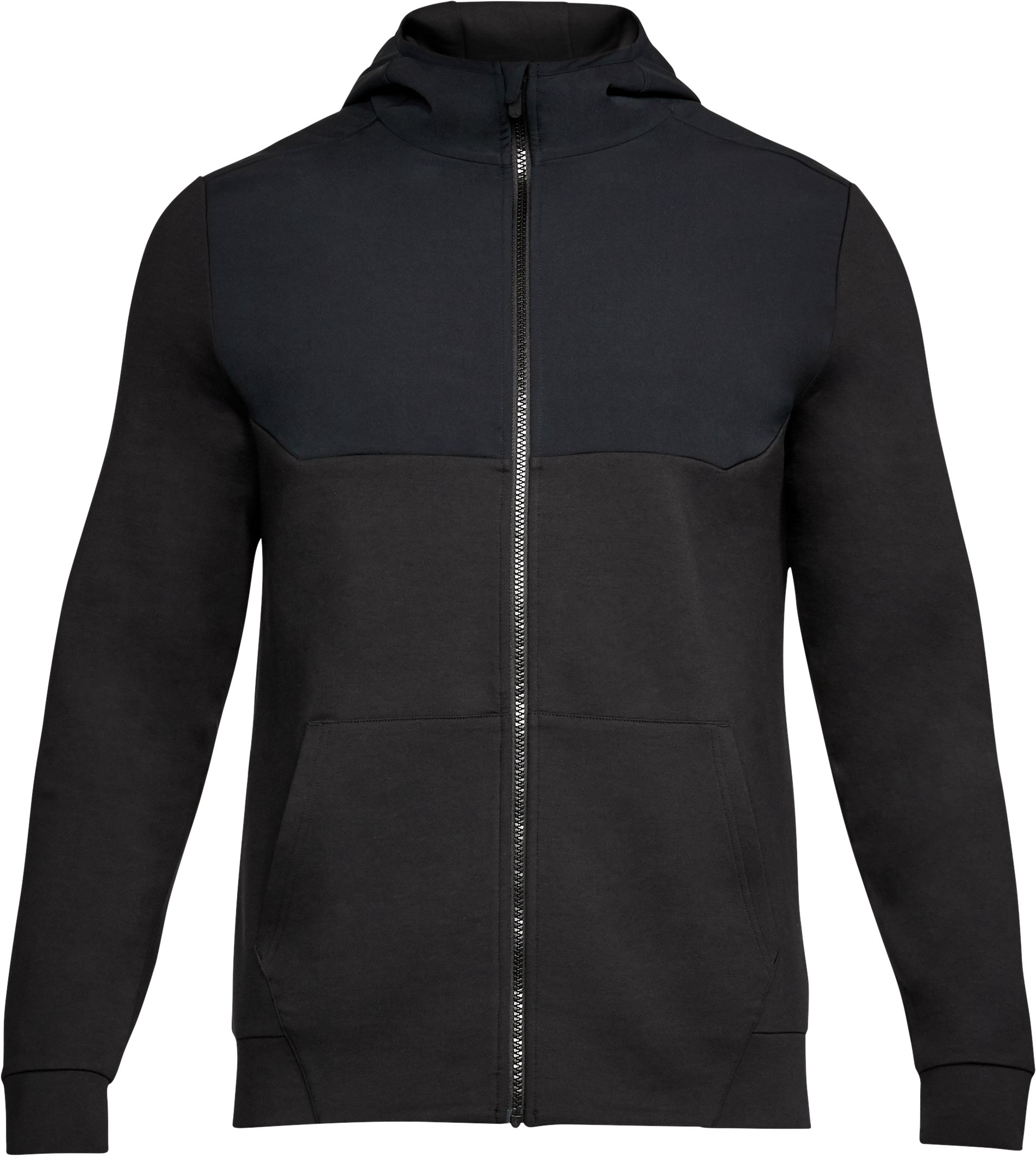 Men's UA Unstoppable Knit Full Zip Hoodie, Black ,