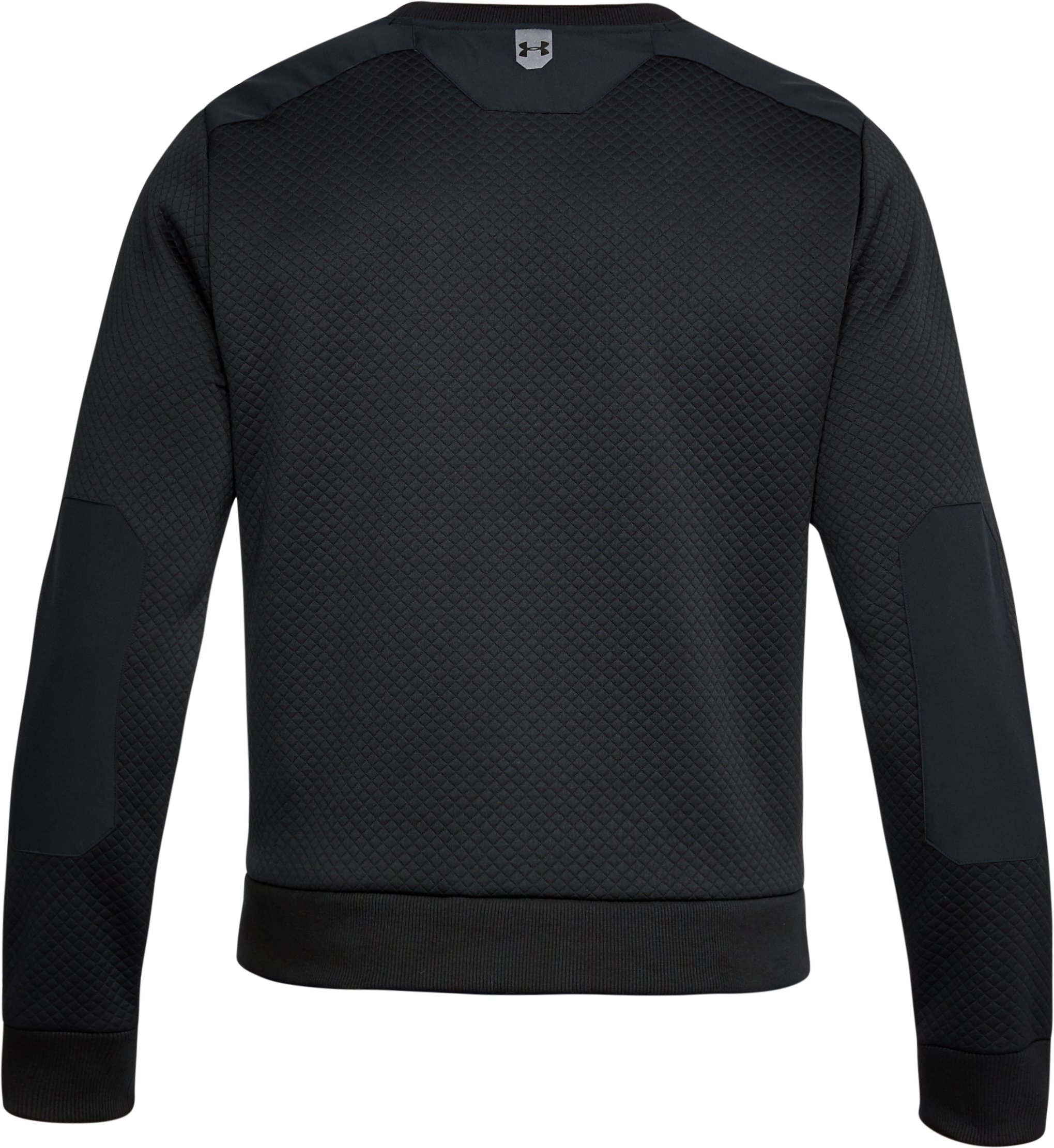 Men's UA Unstoppable Textured Crew, Black ,