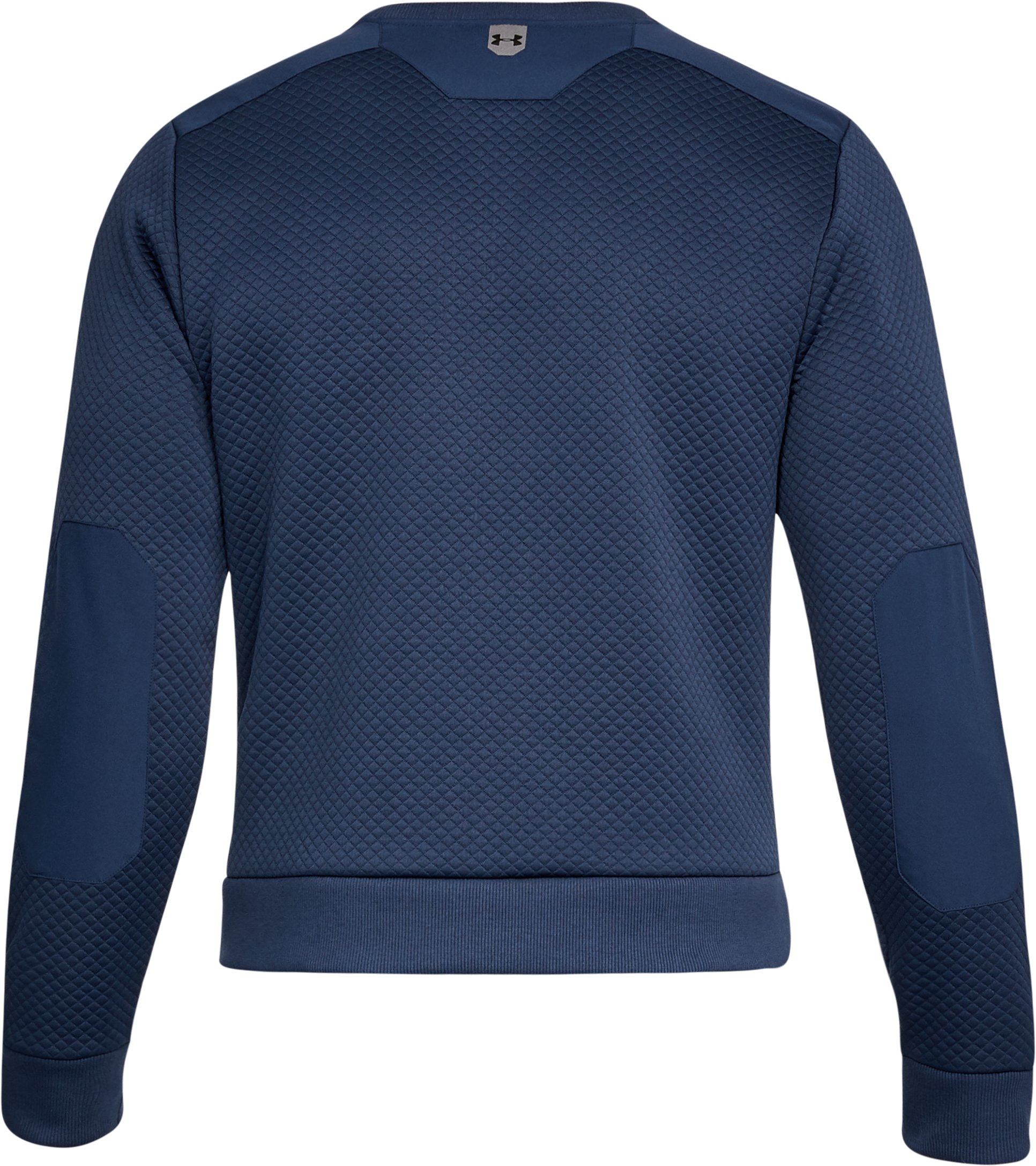 Men's UA Unstoppable Textured Crew, NIGHTTIME BLUE, undefined