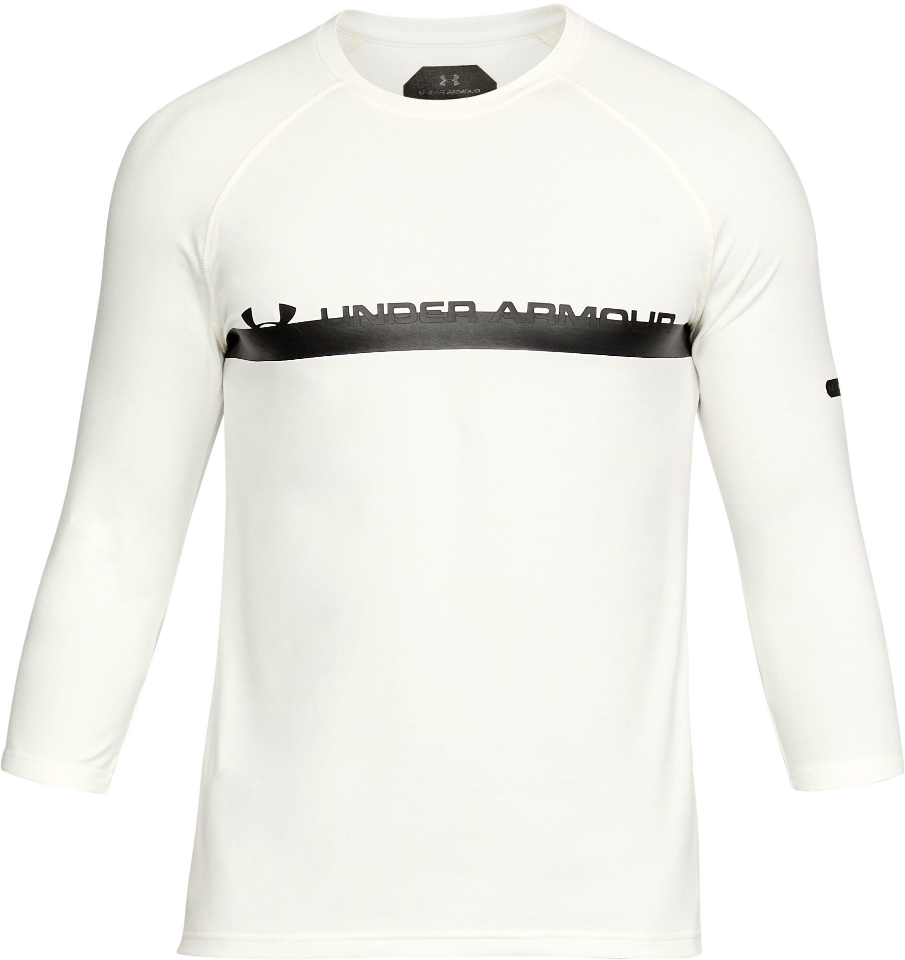 Men's UA Unstoppable ¾ Sleeve T-Shirt, SALT WHITE