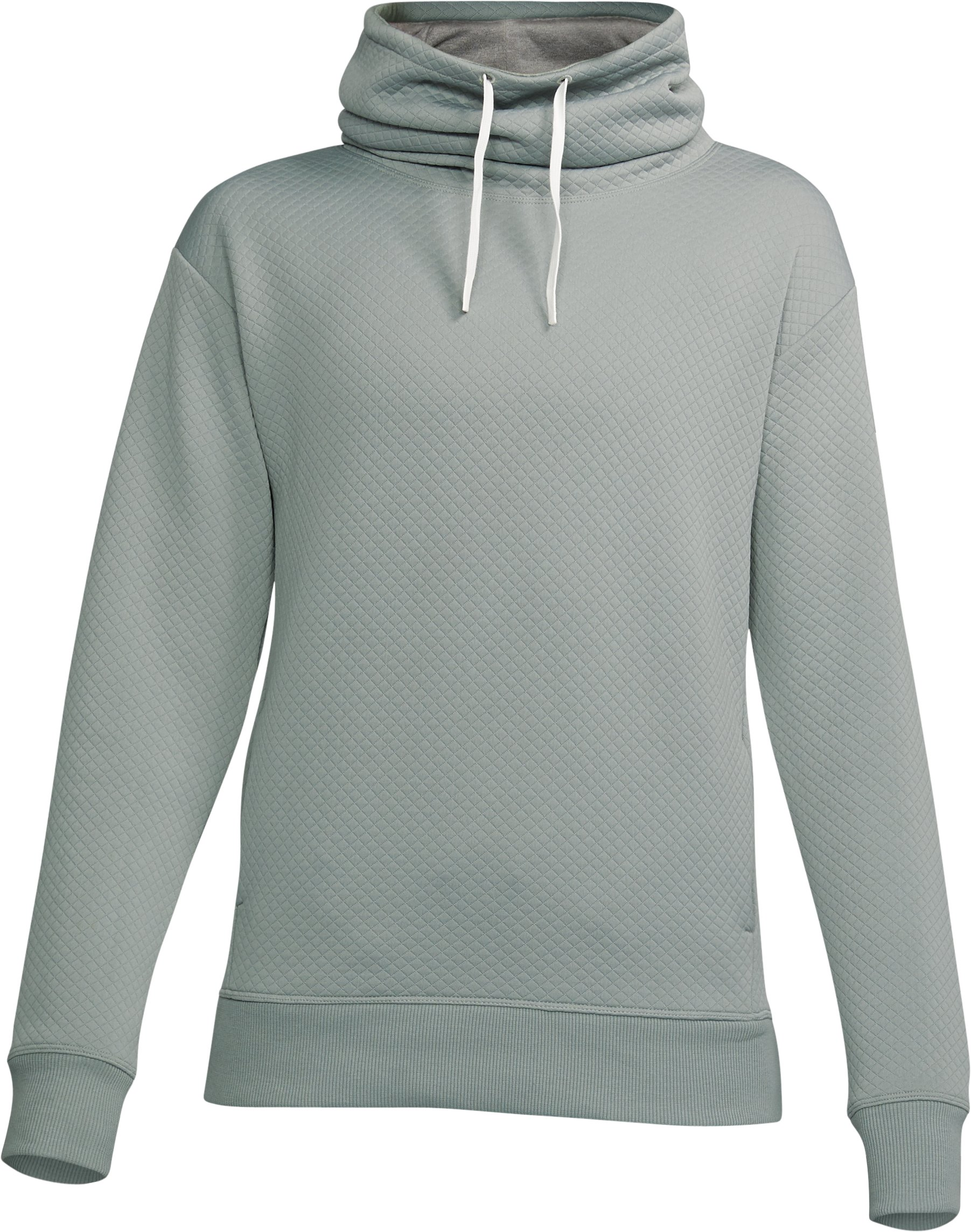 Women's UA Unstoppable Textured Pullover, IRON GRAY,