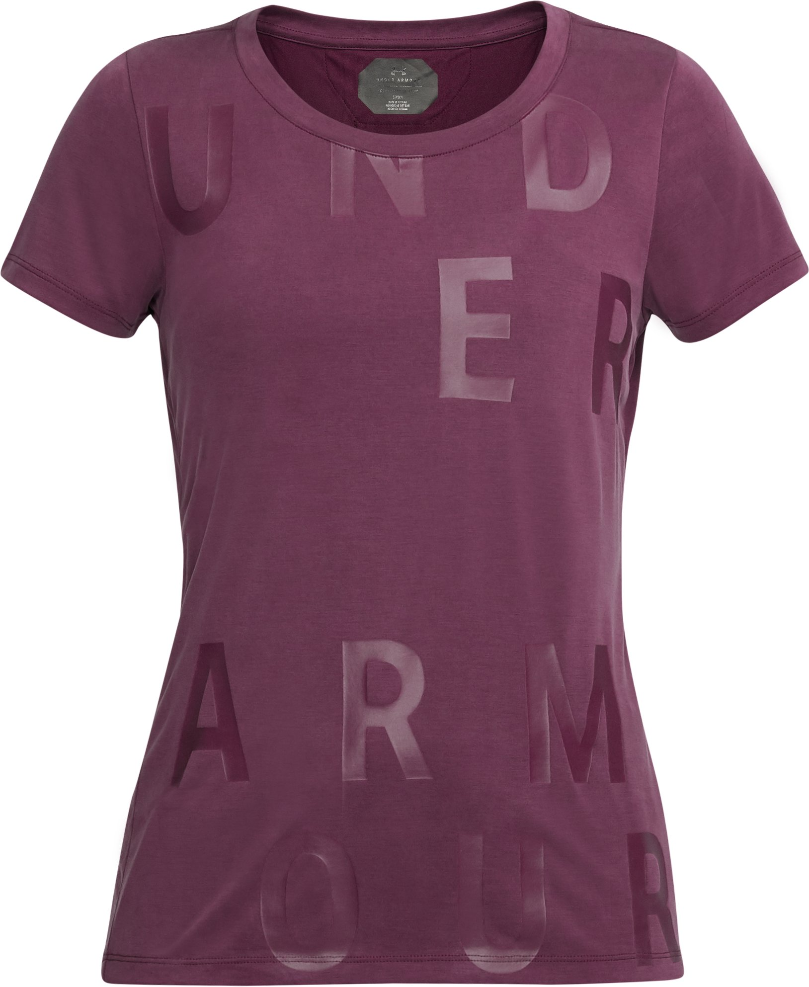 Women's UA Unstoppable Graphic T-Shirt, PURPLE SORBET, undefined