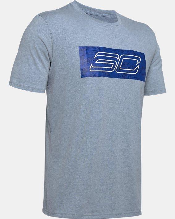 Men's SC30 Logo Short Sleeve T-Shirt, Gray, pdpMainDesktop image number 4