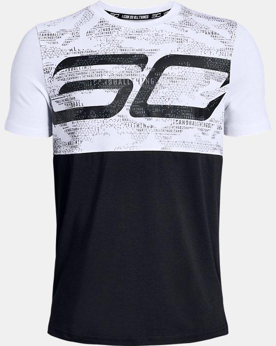 Boys' SC30 Long Line T-Shirt, White, pdpMainDesktop image number 0