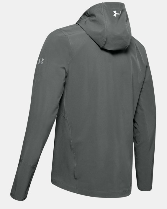 Men's UA Outrun The Storm Jacket, Gray, pdpMainDesktop image number 5
