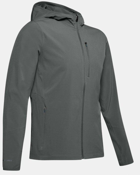 Men's UA Outrun The Storm Jacket, Gray, pdpMainDesktop image number 4