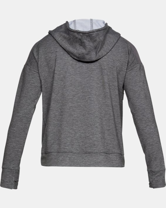 Women's UA Featherweight Fleece ½ Zip, Gray, pdpMainDesktop image number 5