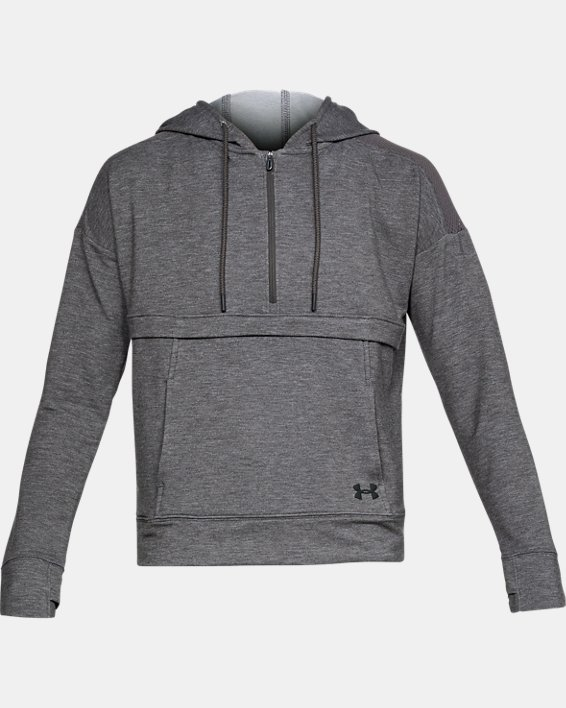 Women's UA Featherweight Fleece ½ Zip, Gray, pdpMainDesktop image number 4