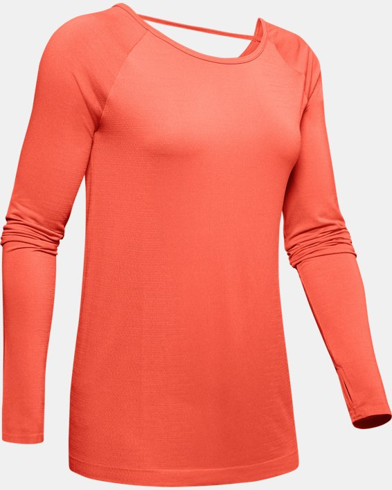 Women's UA Vanish Seamless Long Sleeve, Red, pdpMainDesktop image number 4