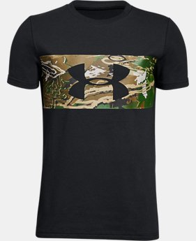 Boys' UA Branded Camo T-Shirt  1  Color Available $20